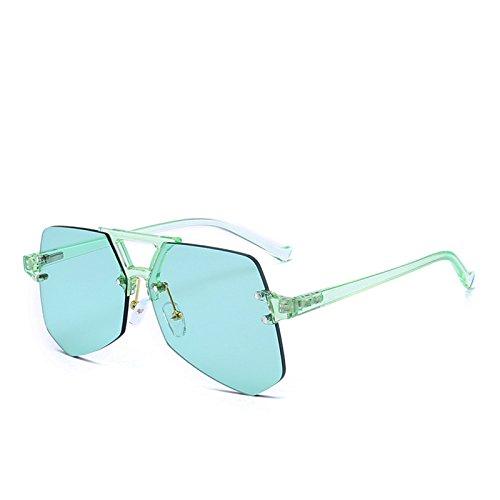 Oculos Brand Sunglass Vert gradient Lady Fygrend Lunettes soleil de irr¨¦guli¨¨re Design Rose Femme Vert Gris Lunettes femme wnFgq6