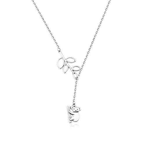 ENSIANTH Koala Gift Y Necklace for Koala Lover (Koala Y Necklace)