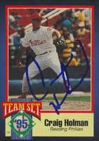 Craig Holman, Reading Phillies - Phillies Affiliate, 1995 Team Set Autographed Card
