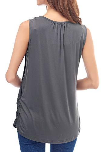 88273561a08 Smallshow Women's Maternity Nursing Tank Top Sleeveless Breastfeeding  Clothes Medium Deep Gray