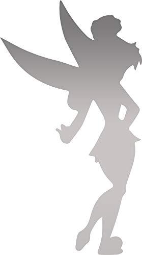 ANGDEST Cartoon Tinker Bell Fairy 12 (Metallic Silver) (Set of 2) Premium Waterproof Vinyl Decal Stickers for Laptop Phone Accessory Helmet Car Window Bumper Mug Tuber Cup Door Wall Decoration ()