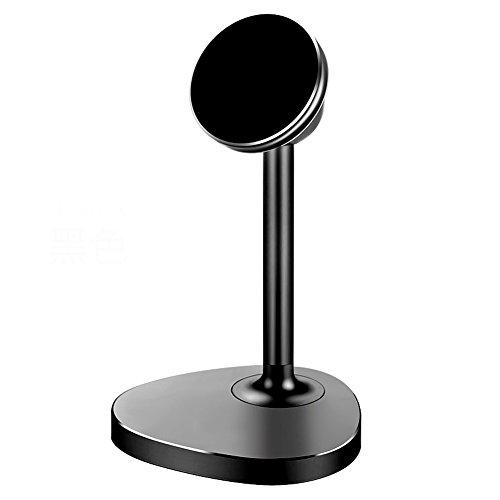 Sakula Magnetic Mount Tabletop Holder, Cell Phone Desk stands 360 Rotation Hands Free Magnetic Phone Stand Black