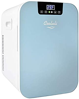 Cooluli Concord 20-liter Mini-Fridge Compact Wine Refrigerator/Bottle Warmer for Road trips, Homes, Dorms (Renewed)