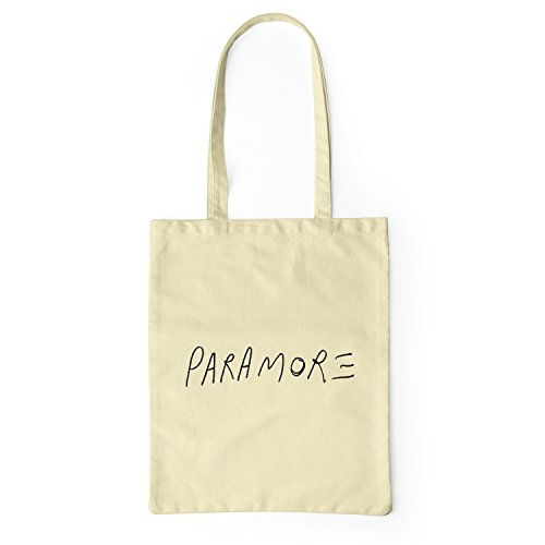 "Bolsa de tela ""Paramore"" - tote bag shopping bag 100% algodón LaMAGLIERIA, Natural"