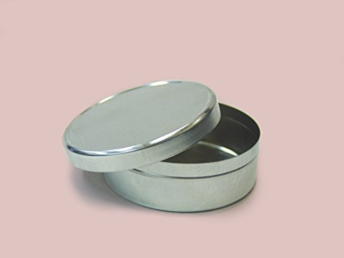 Qty. of 150 3 oz. Flat Tin Container w/ Lid by Buckeye Shapeform
