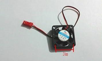 2pcs Negro DC 3007S 9 V 2 cables DC sin escobillas ventilador de ...