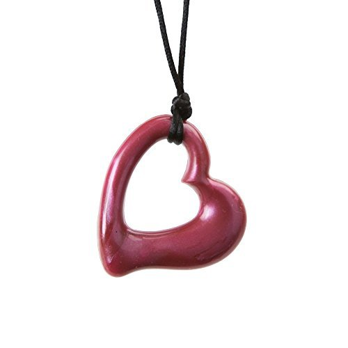 Gumigem Heart Teething Necklace - Teether Toy For Babywearing & Nursing Mums -Red Chilli Pepper ()