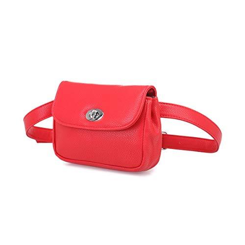 en cuir Sac réglable avec Rouge Modeuse La simili ceinture banane 1wAfX6q