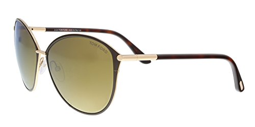 Sunglasses Tom Ford PENELOPE TF 320 FT 28G shiny rose gold / brown mirror (Ford Tom Penelope)