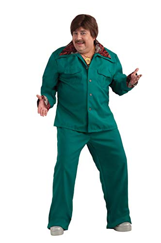 Forum Novelties Men's Plus-Size 70's Disco Fever Leisure Suit Costume, Aqua, Plus -