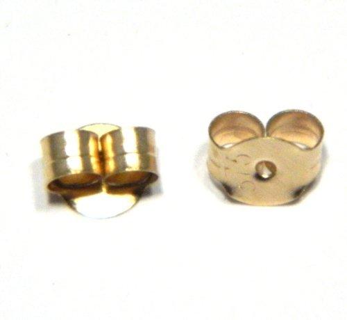 marchi riconosciuti comprare on line moda più desiderabile Arranview Jewellery - 1 Coppia di farfalline grandi (5mm) fermaglio spira  decorativa per orecchini, oro 9K