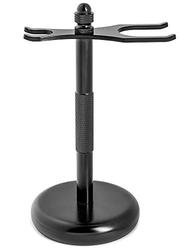 Fendrihan Black Anodized Safety Razor Stand to Prolong the Life of Your Shaving Brush
