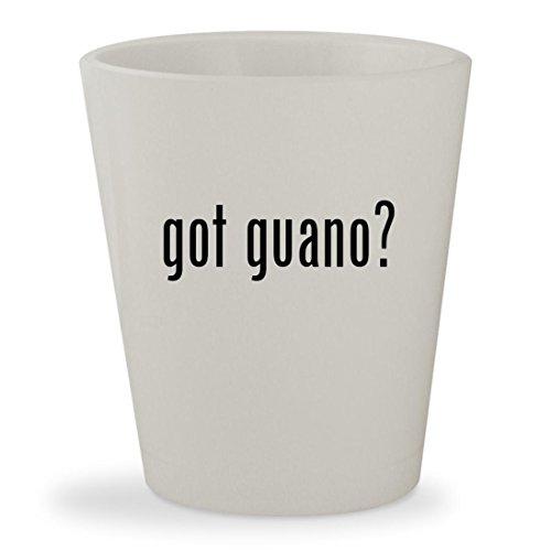 got guano? - White Ceramic 1.5oz Shot Glass Sunleaves Indonesian Bat