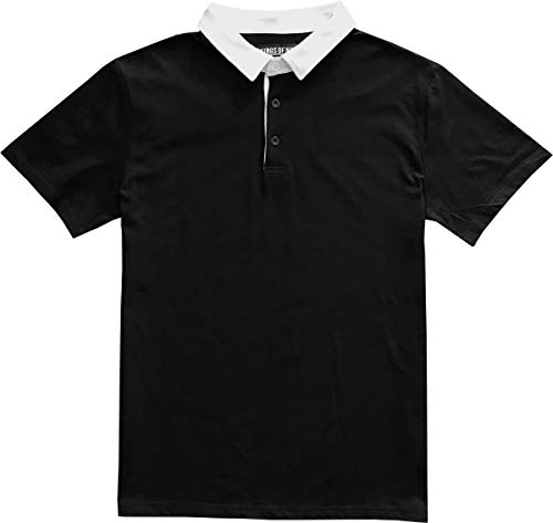 Kings Of NY Solid Mens Short Sleeve Sports Polo Rugby Shirt Small -