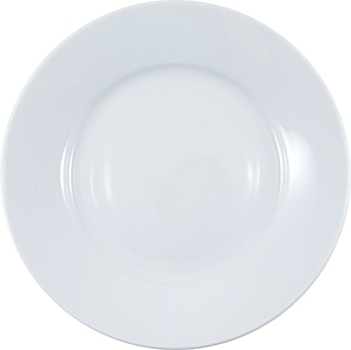 HIC Harold Import Co. Rim White Porcelain Bread and Butter Plate, Set of 6 823/3-HIC