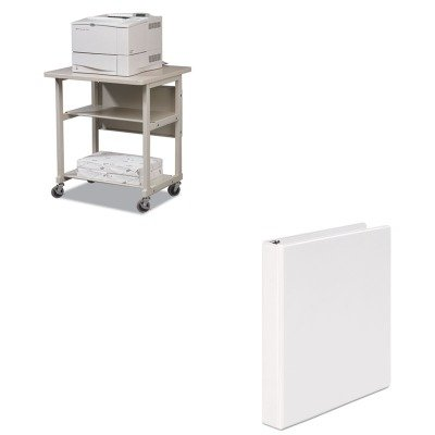 KITBLT22601UNV20962 - Value Kit - Balt Heavy-Duty Mobile Laser Printer Stand (BLT22601) and Universal Round Ring Economy Vinyl View Binder (UNV20962) by Balt