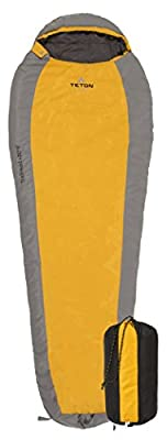 TETON Sports TrailHead Ultralight Mummy Sleeping Bag; Lightweight Backpacking Sleeping Bag for Hiking and Camping Outdoors; Sleep Anywhere; Stuff Sack Included; Never Roll Your Sleeping Bag Again