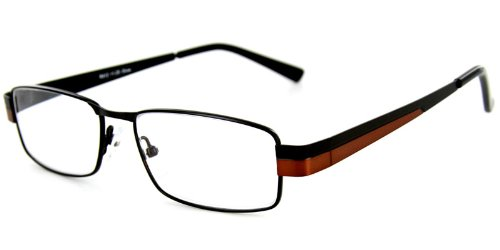 Pioneer Fashion Reading Glasses with Slim Italian Frames and Bold Two-Tone Colors for Youthful, Stylish Men and Women (Bronze - Frames Specs Stylish