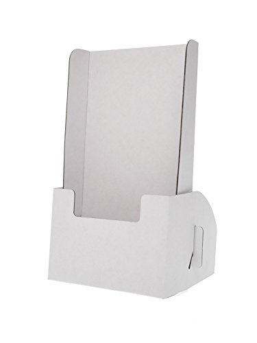 Cardboard Counter Display - Marketing Holders Cardboard Literature Tri Fold Displays Counter Table Trade Show Expos Disposable Brochure Holders Tradeshows or Expos Holds 4.5