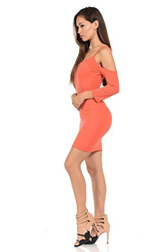 Style Dress Women's Fashion Orange Diamante · D133 qFzI11Ow