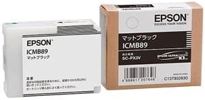 (まとめ) エプソン EPSON インクカートリッジ マットブラック ICMB89 1個 【×3セット】