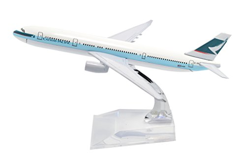 TANG DYNASTY(TM) 1:400 16cm Cathay Pacific Airways A330 Metal Airplane Model Plane Toy Plane Model