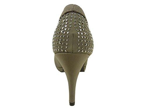 Chaussmaro - Zapatos de Vestir Mujer Gris - gris