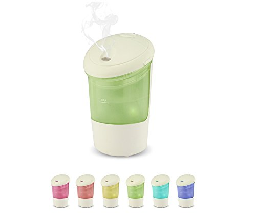 Color You Car Essential Oil Diffuser USB Mini Air Purifier Cool Mist Humidifier with 7 Color Mood Light and Auto Shuts Off for Vehicle Cup Holder Baby