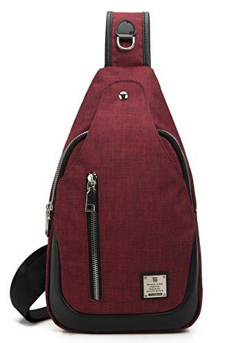 0c4e131ad925 Sling Bag Chest Shoulder Backpack Crossbody Bags for Men Women Travel  Outdoors?Large, 02 Red?