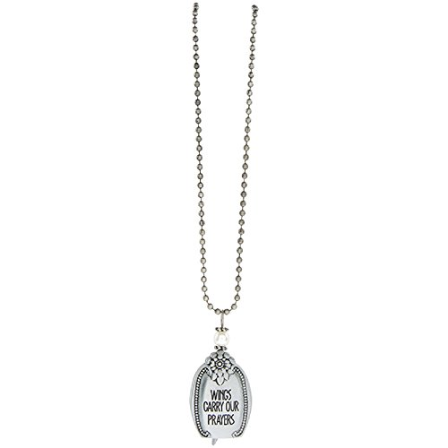 Wings Carry Our Prayers 30 Inch Silverton Metal Angel Bell Woman's Pendant Necklace -