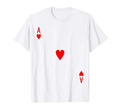 Ace of Hearts Deck of Cards Halloween Costume T-Shirt -