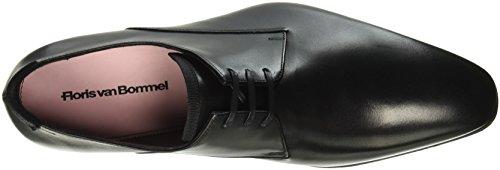 White Light à ville lacets pour Floris Noir homme van Chaussures de Grey Bommel qxWPvXO