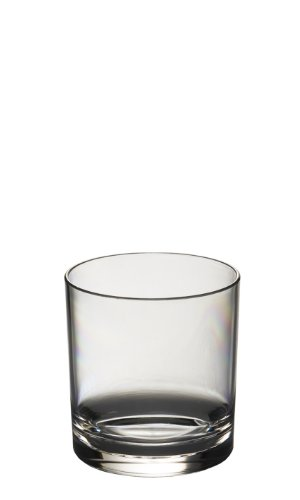 e8309767cad7 Virtually Glass Set of 6 Roltex Unbreakable Reusable Polycarbonate Plastic  Whiskey Juice Glasses (Volume 275ml 9.65 oz Height 8cm Max Diameter 7.4cm)