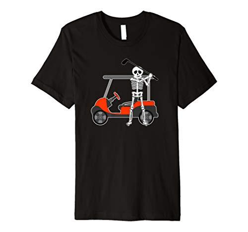 Halloween Golfer Skeleton Shirt   Funny Golfing Gift Premium T-Shirt]()