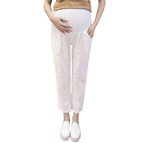 Donna Di Cotone Zevonda Maternit Pantaloni Canapa qwSzdI