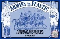 (American Revolution American Continental Cavalry (5 Mounted) 1/32 Armies in Plastic)