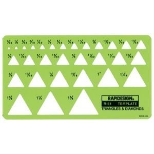6 Pack TEMP. TRIANGLES/DIAMONDS Drafting, Engineering, Art (General Catalog) by RAPIDESIGN (Image #1)
