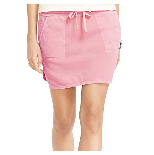 (Polo Ralph Lauren Women's Casual Stretch Pony Skirt-Neon Rose-XS)
