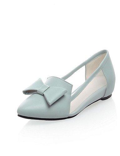XZZ  Damen-Stiefel-Kleid   Lässig-PU-Flacher Absatz-Flache Schuhe-Blau