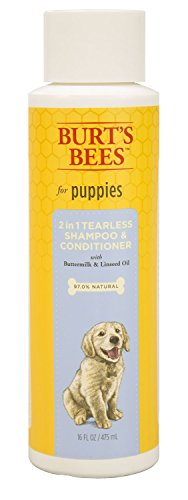 Burts Bee 2in1 Tearless Puppy Shampoo, 16-Ounce (Burts And Bees Pets)