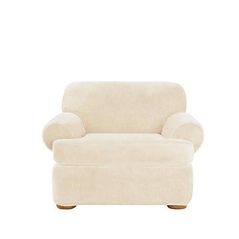 Amazon.com: Stretch Plush Asiento Separado silla Slipcover ...