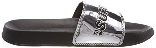 Chanclas Slide Superdry City Mujer para Gris 05y Chrome F4wSnUqw