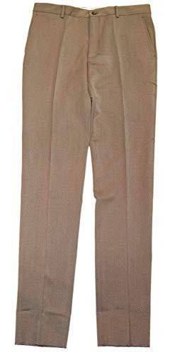 - Ralph Lauren Polo Mens Flat Front Gabardine Wool Dress Pants Italy Brown 36