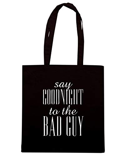 TO Shirt OLDENG00635 SCARFACE BAD GOODNIGHT THE SAY Shopper Nera Speed Borsa GUY O0xwdqTBB