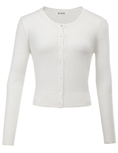 Gilets Pulls Pulls Casual Coton Femmes et MUXXN et Blanc Manteaux Blousons TxY5Oqtw