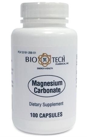 BodyBio - Magnesium Carbonate, 125 mg, 100 caps