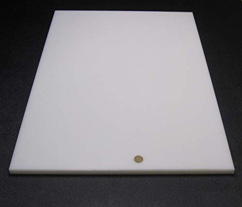 1 pc White Sheet .750 HDPE 3//4 x 24 x 36 High Density Polyethylene