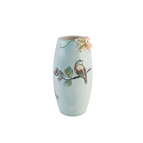 Fitz Vase - Fitz and Floyd 21-068 English Garden Vase, Baby Blue