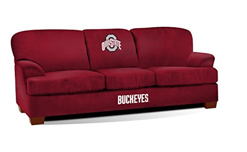 Imperial Officially Licensed NCAA Furniture: First Team Microfiber Sofa/Couch, Ohio State (Ohio State Buckeyes Sofa)