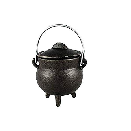 CircuitOffice Cast Iron Cauldron, for Smudging, Cone Incense, Granular Incense, Charcoal Incense, Rituals, Altars, Wicca, Pagan, Decorations or Gifts (3